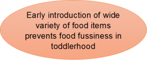 complementary feeding and food fussiness